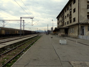 Der Bahnhof Gevgelija.